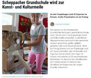 Scheppacher Grundschule wird zur Kunst und Kulturmeile